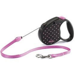 Flexi Color M тросовый поводок-рулетка 5м для собак до 20 кг, розовая