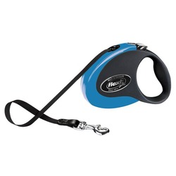 Flexi Collection S рулетка 3м для собак до 12 кг лента, черно-голубая