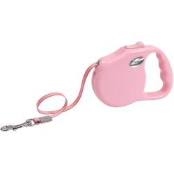 "Freego рулетка ""Элеганс"", 3 м, лента, для собак до 12 кг, розовая"