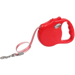 """Freego рулетка """"Элеганс"""", 3 м, лента, для собак до 23кг, красная"""