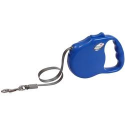 "Freego рулетка ""Элеганс"", 5 м, лента, для собак до 41 кг, синяя"