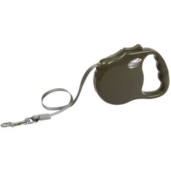 "Freego рулетка ""Элеганс"", 3 м, лента, для собак до 23 кг, коричневая"