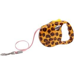 "Freego рулетка ""Леопард"", 3 м, лента, для собак до 23 кг, красная"