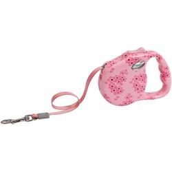 "Freego рулетка ""Ажур"", 3 м, лента, для собак до 12 кг, розовая"