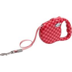 "Freego рулетка ""Клетка"", 3 м, лента, для собак до 23 кг, красная"