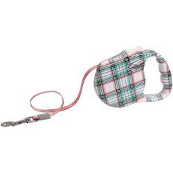 """Freego рулетка """"Шотландская клетка"""", 5 м, лента, для собак до 41 кг"""