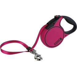 KONG рулетка Terrain S, лента 5м для собак до 20 кг, цвет фуксия