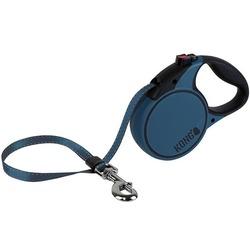 KONG рулетка Terrain S, лента 5м для собак до 20 кг, цвет синий