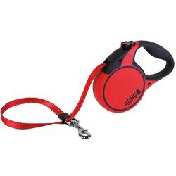 KONG рулетка Terrain S, лента 5м для собак до 20 кг, цвет красный