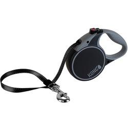 KONG рулетка Terrain M, лента 5м для собак до 30 кг, цвет черный