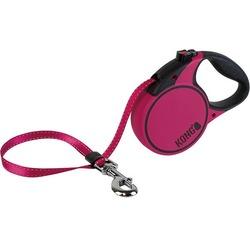 KONG рулетка Terrain M, лента 5м для собак до 30 кг, цвет фуксия