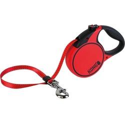 KONG рулетка Terrain M, лента 5м для собак до 30 кг, цвет красный