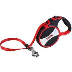KONG рулетка Explore L, лента 7.5 м для собак до 50 кг, цвет красный