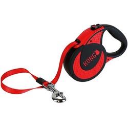 KONG рулетка Ultimate XL, лента 5 м для собак до 70 кг, цвет красный