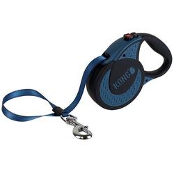 KONG рулетка Ultimate XL, лента 5 м для собак до 70 кг, цвет синий