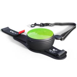 СКИДКА 25%! Lishinu Original поводок-рулетка для собак весом 6-30 кг, длина 3 м, цвет зеленый