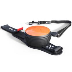 СКИДКА 25%! Lishinu Original поводок-рулетка для собак весом 6-30 кг, длина 3 м, цвет оранжевый