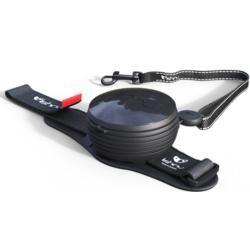 СКИДКА 25%! Lishinu Original поводок-рулетка для собак весом 6-30 кг, длина 3 м, цвет черный