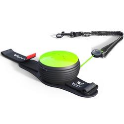 СКИДКА 25%! Lishinu Original NEON поводок-рулетка для собак весом 6-30 кг, длина 3 м, цвет зеленый неон