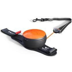 СКИДКА 25%! Lishinu Original NEON поводок-рулетка для собак весом 6-30 кг, длина 3 м, цвет оранжевый неон