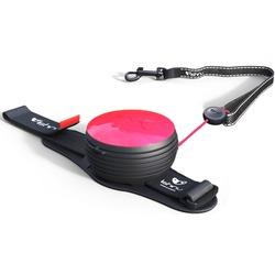 СКИДКА 25%! Lishinu Original NEON поводок-рулетка для собак весом 6-30 кг, длина 3 м, цвет фуксия неон