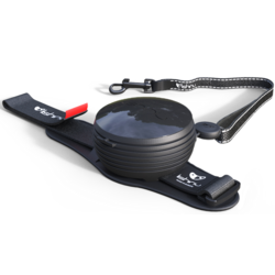 СКИДКА 25%! Lishinu Light Lock поводок-рулетка для мелких пород собак до 6 кг, 3 метра, цвет черный