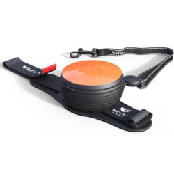 СКИДКА 25%! Lishinu Light Lock поводок-рулетка для мелких пород собак до 6 кг, 3 метра, цвет оранжевый