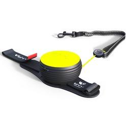 СКИДКА 25%! Lishinu Light Lock Neon поводок-рулетка для мелких пород собак до 6 кг, 3 метра, цвет желтый неон