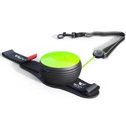СКИДКА 25%! Lishinu Light Lock Neon поводок-рулетка для мелких пород собак до 6 кг, 3 метра, цвет зеленый неон