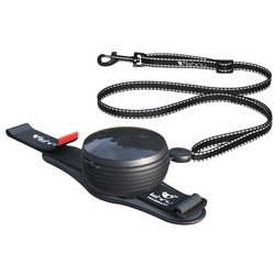 СКИДКА 25%! Lishinu 3 in 1 поводок-рулетка для собак весом от 6 кг до 30 кг, 3 метра, цвет черный