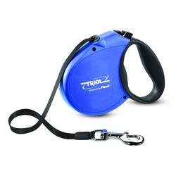 Triol by Frexi Поводок-рулетка S 5м до 15кг Standard Soft Blue, лента, арт.FDL013