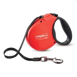 Triol by Frexi Поводок-рулетка S 5м до 15кг Standard Soft Red, лента, арт.FDL014