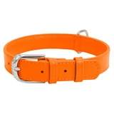 Collar ошейник из кожи КОЛЛАР ГЛАМУР, цвет оранжевый