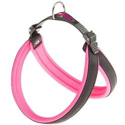 Ferplast шлейка AGILA FLUO с мягкой подкладкой, цвет розовый