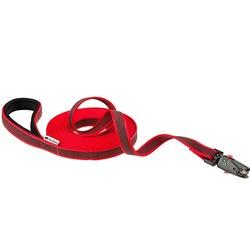 Ferplast прорезиненный поводок DAYTONA GUMMY MATIC с автоматическим карабином и мягкой ручкой, цвет красный, 5 м х 2 см