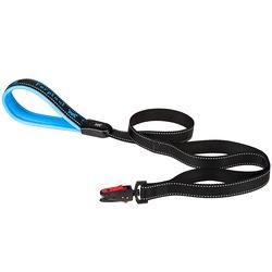 Ferplast поводок SPORT DOG MATIC с автоматическим карабином и мягкой ручкой, цвет синий, 1,2 м х 2 см