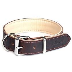 """Gripalle ошейник для собак """"Гросс"""", натуральная кожа, 2 слоя, цвет коричневый"""