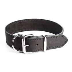 """Gripalle ошейник для собак """"Дакс"""", натуральная кожа, 1 слой, цвет черный"""