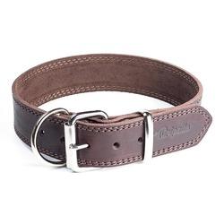 """Gripalle ошейник для собак """"Дакс"""", натуральная кожа, 1 слой, цвет коричневый"""