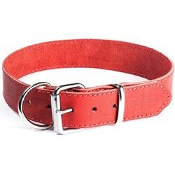 """Gripalle ошейник для собак """"Дакс"""", натуральная кожа, 1 слой, цвет красный"""
