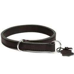 """Gripalle ошейник-удавка для собак """"Купер"""", натуральная кожа, 2 слоя, цвет черный"""