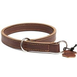 """Gripalle ошейник-удавка для собак """"Купер"""", натуральная кожа, 2 слоя, цвет коричневый"""