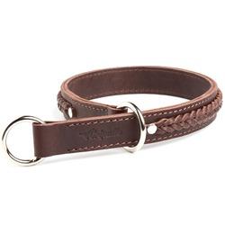 """Gripalle ошейник-удавка для собак """"Дагер"""", натуральная кожа, 2 слоя, цвет коричневый"""