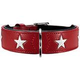 Hunter ошейник Magic Star, натуральная кожа, цвет красный