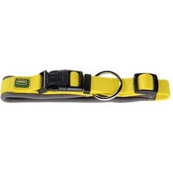 Hunter ошейник с мягкой подкладкой Neopren Vario Plus желтый с бежевым