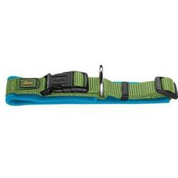 СКИДКА! Hunter ошейник с мягкой подкладкой Neopren Vario Plus зеленый с голубым