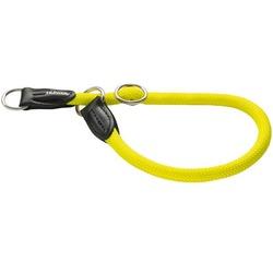 Hunter Ошейник-удавка Freestyle желтый неон