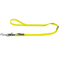 Hunter Поводок-перестежка для собак Convienience, биотановый, цвет желтый неон, 2 м х 2 см