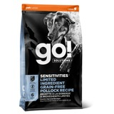 GO! NATURAL Holistic беззерновой для щенков и собак, с минтаем для чувствительного пищеварения, Sensitivity + Shine LID Pollock Dog Recipe, Grain Free, Potato Free