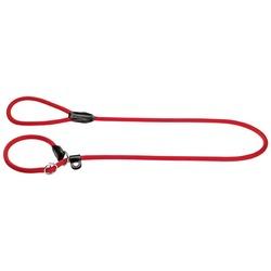 Hunter ринговка с кольцом (тренировочный поводок) Freestyle 1,2м х 8мм, цвет красный